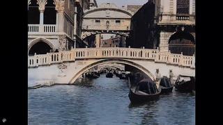 [4K, 50fps, colorized] 1899. Venice. Venezia.