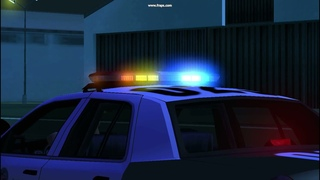 Ford Crown Victoria Police Interceptor 2011 LAPD (Lowpoly - AVS)