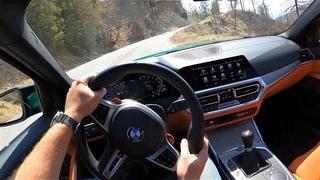 2021 BMW M3 6MT - POV Test Drive (Binaural Audio)