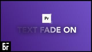 Text Fade Transition - Premiere Pro 2021