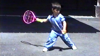 Four-year-old Novak Djokovic receives his very first tennis racket for birthday: Exclusive footage