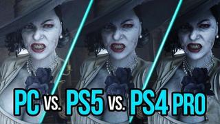 Resident Evil 8 Village | PC vs. PS5 vs. PS4 Pro | 4K Graphics and FPS Comparison