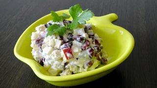 Салат к шашлыку за 5 минут с фасолью консервированной