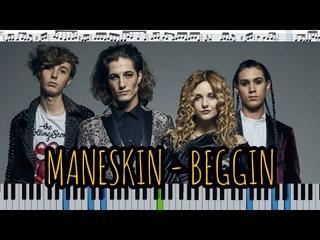 Måneskin - Beggin' (кавер на пианино + ноты)