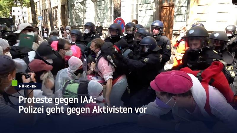 München Proteste gegen IAA Polizei geht gegen Aktivisten vor