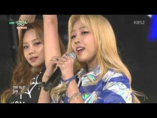 151204 Purfles (퍼펄즈) - Bad Girl (나쁜여자) @ Music Bank 뮤직뱅크