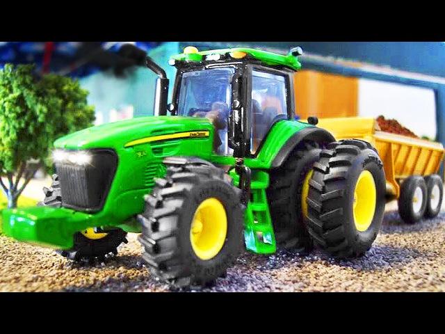 Traktor Pracowity Traktorki Zbierać ZNIWA Bajka dla dzieci 2017