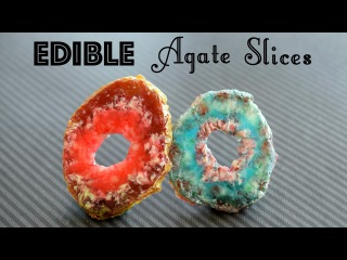 () DIY Edible Agate Slices // DIY Candy Rocks and Crystals! // Faux Geode Agate Slice // Edible DIY