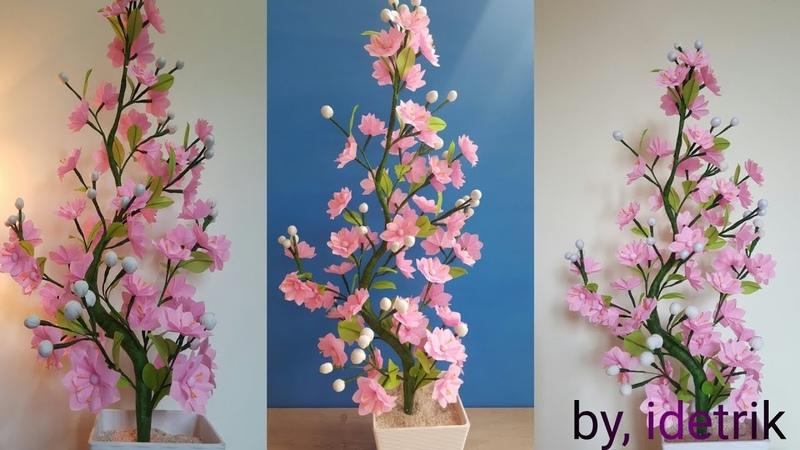Cara Membuat Bunga Plastik kresek Beautiful flower craft from crackle plastic