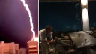 Severe Lightning Storm In Halkidiki, Greece Hits HARD In Major Tourist Area