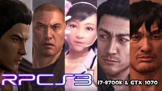 [RPCS3] Yakuza 5 Performance Test | i7-8700K @5GHz