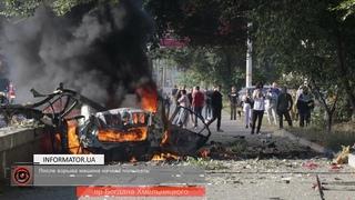 В Днепре на проспекте Хмельницкого взорвался: Nissan погиб человек