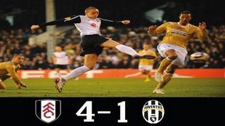 Fulham 4-1 Juventus UEL 2nd Leg 2010  (5-4 Agg)●Fulham Through QF● Classic Match