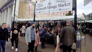 Walking in Greenwich Vintage Market & Greenwich Town Centre | London walk 4K
