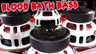 """Bloodbath"" BASS! 6 15"" Subs 32,000 Watts! 6th Order Stack Fab Bandpass Wall - Chevy Tahoe"