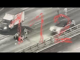 В Москве автомобиль насмерть сбил таксиста, попавшего в Д...