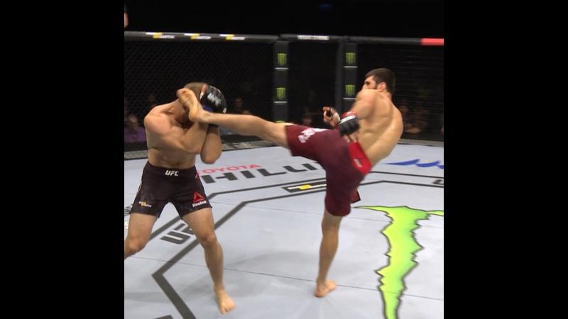 В этот день в 2018 Магомед Анкалаев одержал первую победу в UFC