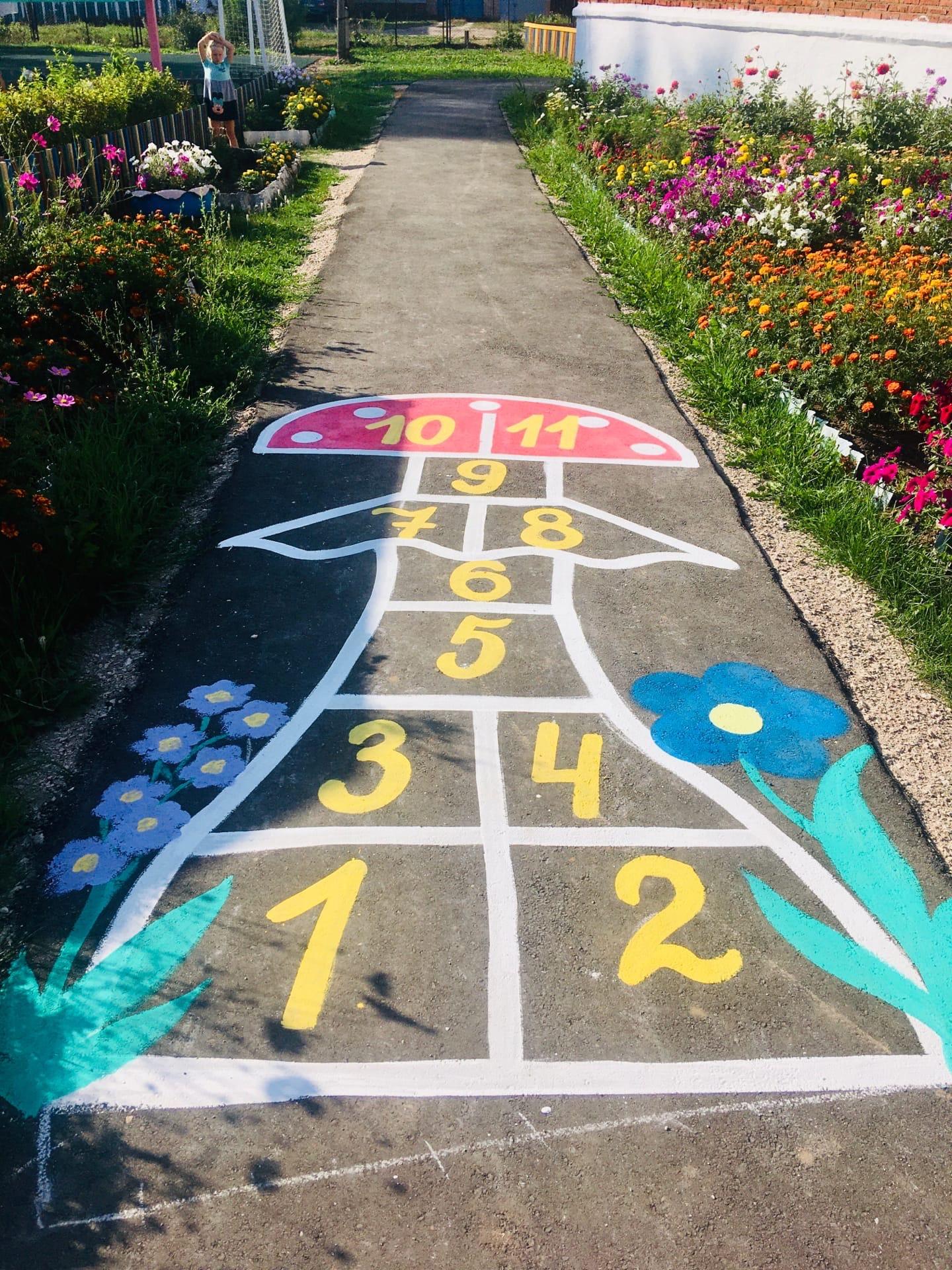 «Разрисуем асфальт – пусть дети играют и