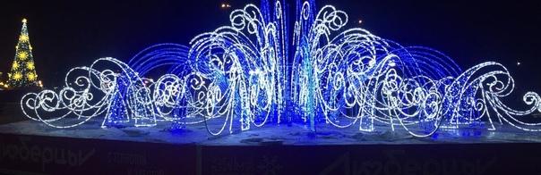 Светодиодный фонтан диаметром 17 метров установлен...