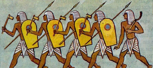 """Ружья против брони. От бронебойного лука к бронебойным винтовкам. """"Египетская сила"""". И гекатонхейры."""
