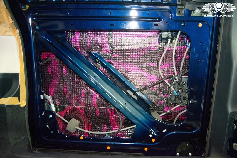 Комплексная шумоизоляция Mercedes-Benz V-Class, изображение №8