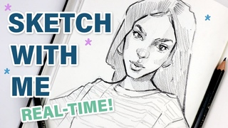 Sketch with Me! (Sketchbook Tour + 13 min REAL time sketching)