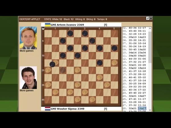 Сипма Иванов Чемпионат Мира по международным шашкам 2021